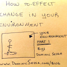 How To Effect Change In Your Environment. How to Visualize Part 1.